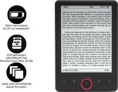 "Denver EBO-625 - 6"" E-Book reader - A-kwaliteit Carta-paneel - 4GB geheugen - MicroSD kaart ingang"