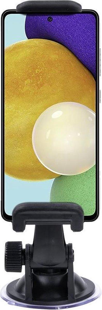 Shop4 – Samsung Galaxy A52 Autohouder Klem Zwart