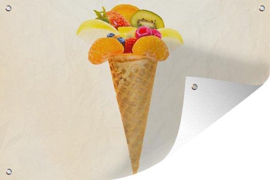 Bol Com Tuinposter Abstract Ijs Ijshoorntje Met Fruit 120x80 Cm