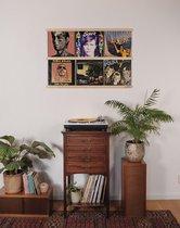 Vinyl Frame | LP's aan de muur ophangen | Wissellijst voor 12 inch platen | Album & artwork decoratie lijst | Essenhout