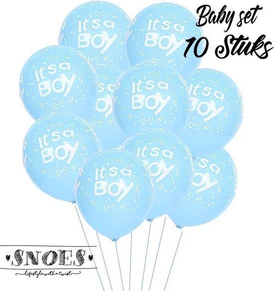 Snoes * Set van 10 Ballonnen * Geboorte * Hoera een Jongen * It