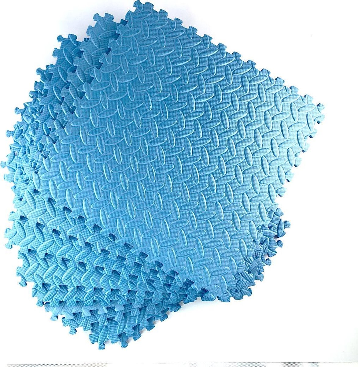 Zwembadtegel ondergrond van WDMT™ | 38,5 x 38,5 x 0,8 cm | 9-delige ondervoer voor zwembaden | Vloermat eenvoudig te bevestigen en reinigen | Blauw