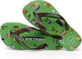 Havaianas Minecraft Unisex Slippers - Groen/Bruin - Maat 29/30