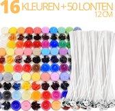 My Candles - Kaarsen Kleurstof  + 50 Kaarsenlonten GRATIS - Pigment - Zelf (Geur)Kaarsen Maken - 16 Kleuren - Oud Kaarsvet Hergebruiken - DIY - Volwassenen