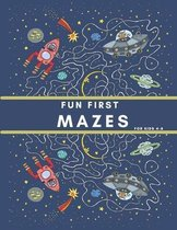 Fun First Mazes for Kids 4-8: maze book,50 easy maze puzzles with solutions, maze activity book for kids ages 4-8,105 pages (8.5*11)