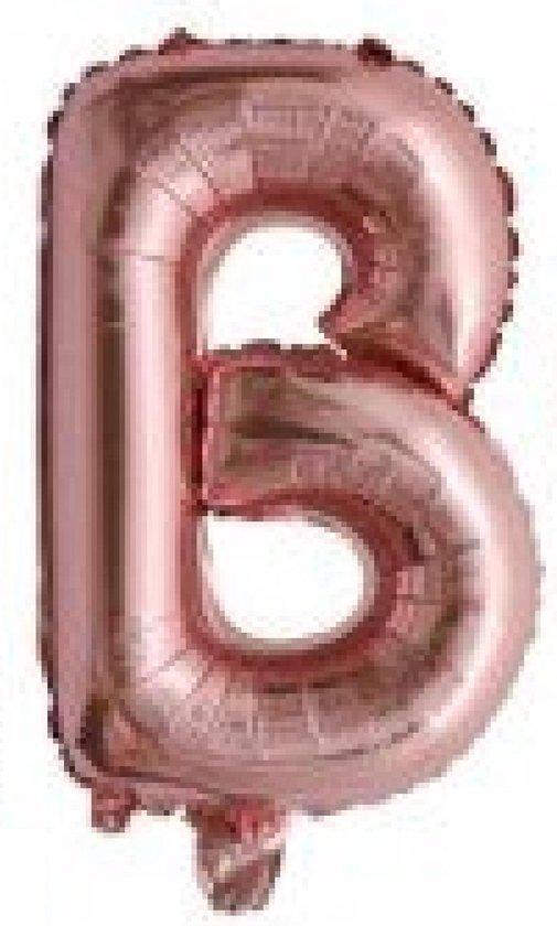 Folieballon / Letterballon Rose Goud  - Letter B - 41cm