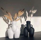 Keramische Bloemenvazen|Vrouwelijke Body Art vaas| butt vase|Vaas Voor Bloem Sculptuur|wit