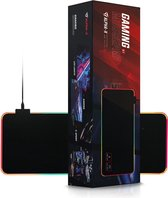 Alpha X - Gaming Muismat XXL - Rgb Led Verlichting - Anti Slip