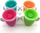Antilekbeker - Magic Cup - Oefenbeker -  360° - Roze - Peuter - Dreumes - BPA Vrij