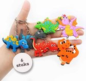 Uitdeelcadeaus Dino sleutelhangers (6pcs) - Traktatie - Klein speelgoed - Grabbelton - GRATIS Verzending
