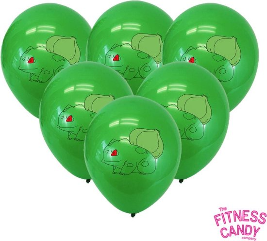 POKEMON Bulbasaur Ballonnen - Set van 6