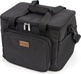 Packaway 3 Laags Geïsoleerde Koeltas - Lunchtas 15 liter - Zwart