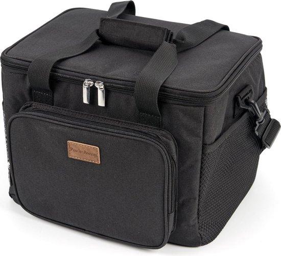 Packaway 4 Laags Geïsoleerde Koeltas - Lunchtas 15 liter - Zwart