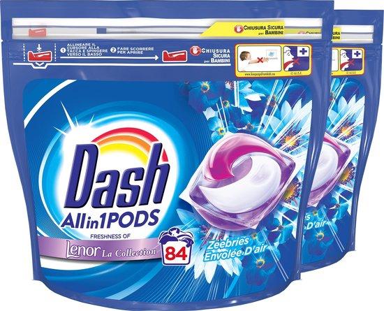 Dash All in 1 Wasmiddel Pods Zeebries - Voordeelverpakking - 2x42 Wasbeurten