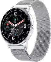 Royal supplies KV-97 Smartwatch -Stappenteller -Sport horloge - Smartwatch Dames - Smartwatch Heren- Smartwatch Kinderen-Activity Tracker -Bloeddrukmeter -Hartslagmeter - Afstandmeter -Calorieënteller -Fitness Tracker-Smartwatch Android & iOS -Zilver