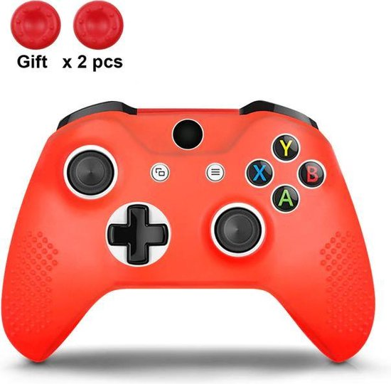 Gadgetpoint! | Xbox One | Siliconen Controller Hoesjes | Rood