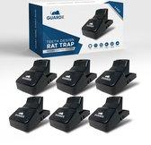 GuardX® 6x Kunststof Rattenval - Teeth Design - XXL Muizenvallen Set - Ongediertebestrijding - Rattenklem voor binnen en buiten
