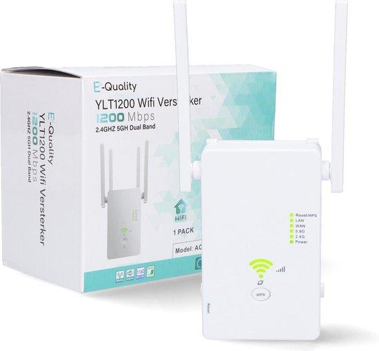 E-Quality® YLT1200 - Wifi Versterker - 1200 MBPS - 2.4GHZ  5GH Dual Band - Wifi Repeater - Wifi Versterker Draadloos - Wifi Versterker Stopcontact