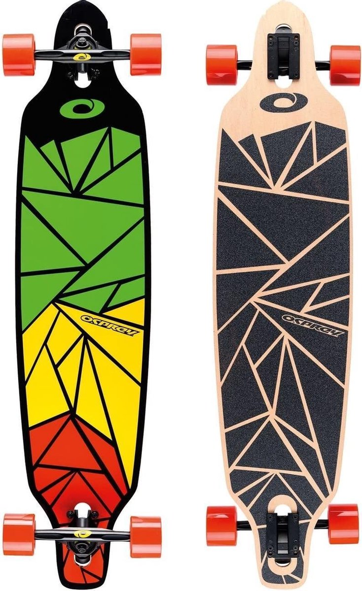 Osprey Longboard Shapes 99 X 24 Cm Esdoorn Groen/geel/rood