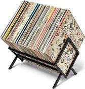 DAJA Goods Mat Zwart Platenrek Opbergrek voor Vinyl en LP's - LP Opbergsysteem - Boeken & Tijdschriften