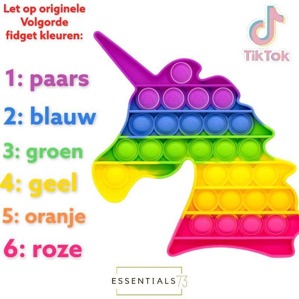 Fidget Pop IT - Unicorn Regenboog - Unicorn Rainbow - Eenhoorn - TikTok