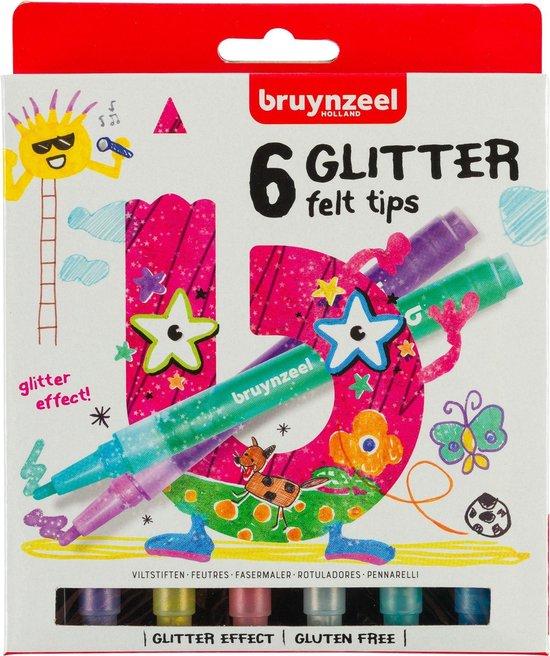 Afbeelding van Bruynzeel Kids 6 glitterstiften
