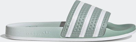 adidas Adilette Heren Slippers - Hazy Green/Ftwr White/Hazy Green - Maat 44 2/3