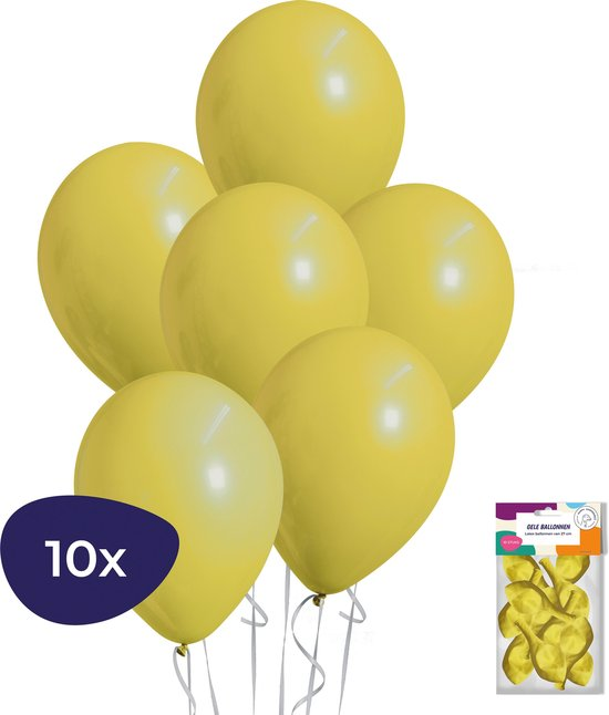 Gele Ballonnen - Helium Ballonnen - Verjaardag Versiering - Feestversiering - 10 stuks