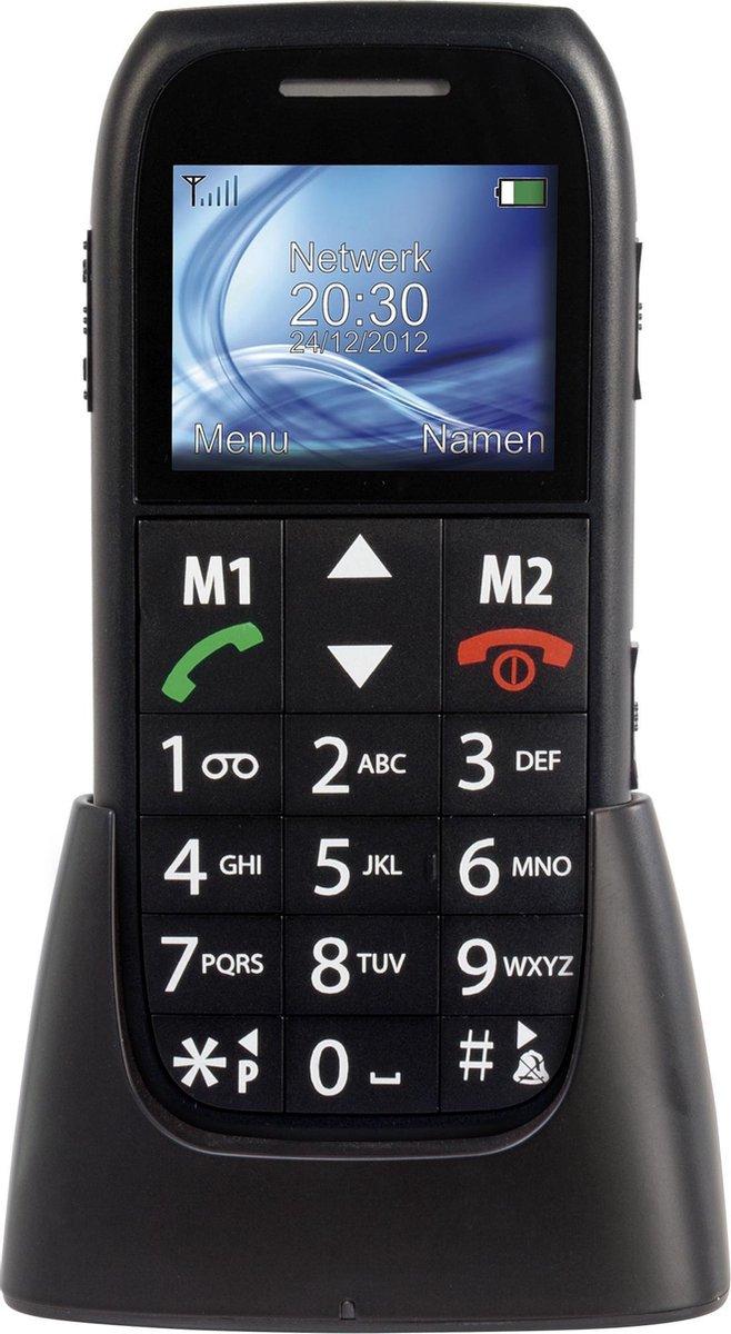 Fysic FM-7500 Big Button GSM – SOS Noodknop, Grote cijfers en letters 2 Snelkiestoetsen – Zwart