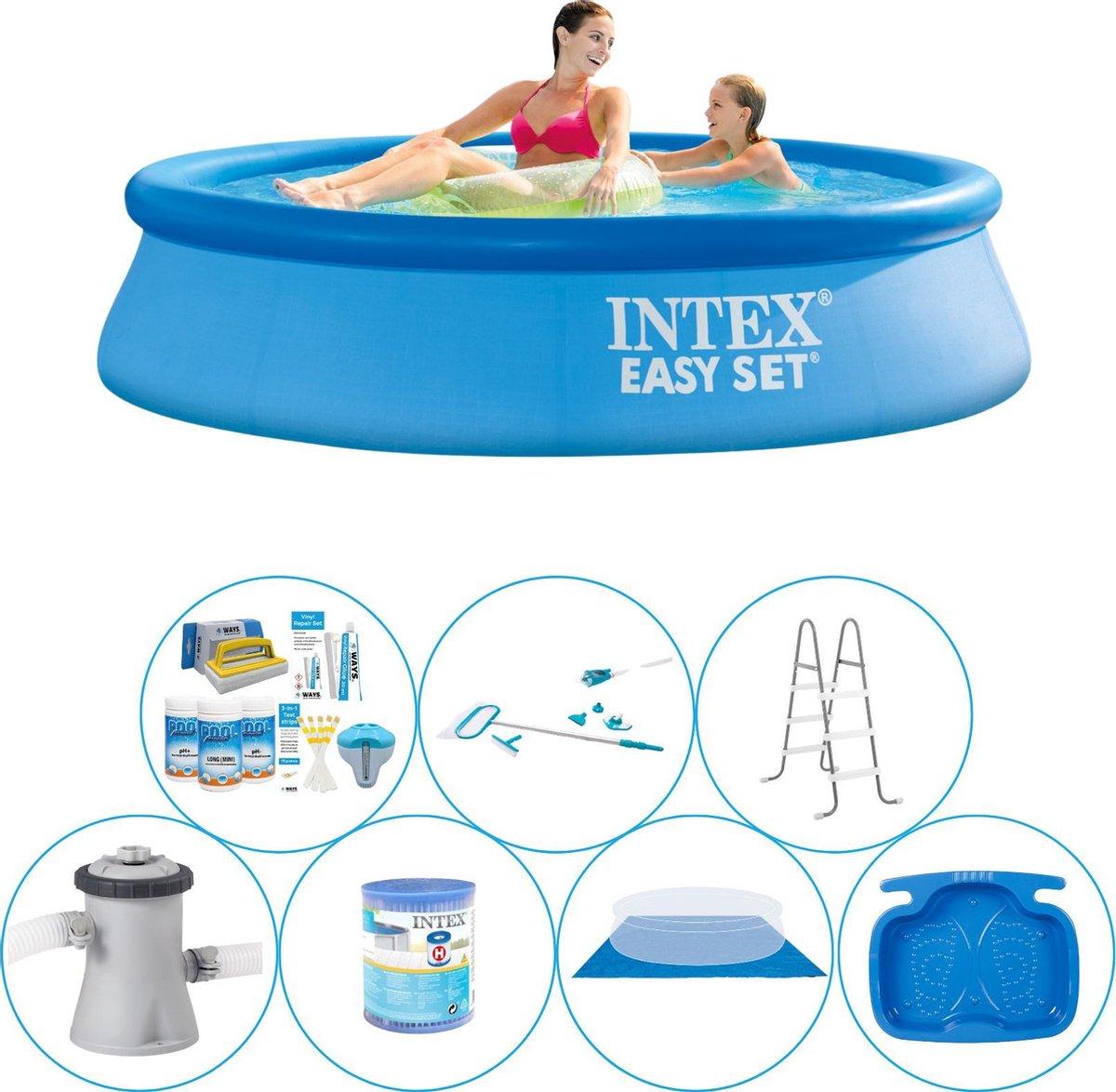 Intex Easy Set Rond 244x61 cm - 8-delig - Alles in 1 Zwembad Pakket