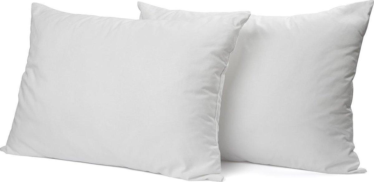 Elegance Kussensloop Hotelsluiting Percal Katoen - wit 60x70cm - Kussenslopen set van 2 stuks