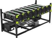 Mining Rig - Voor 8 GPU's - Stapelbaar - Bitcoin / Ethereum Miner Rig - Inclusief 7 Ventilatoren