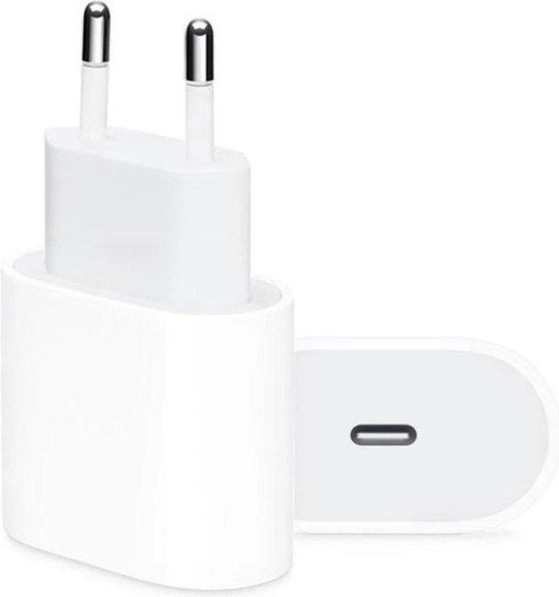 iPhone oplaadstekker 20W USB-C Power oplader - Wit - Geschikt voor Apple iPhone - Apple iPad - USB-C Apple Lightning |Snellader iPhone 12 / 11 / Xs / XsMax / Xr / 8 / 7 / iPad / 12 Pro Max / iPhone 12 Pro | iPhone Lader | USBC lader | USB-C Lader