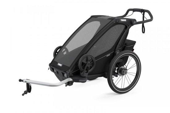 Thule Chariot Sport 1 - Fietskar - Black on Black