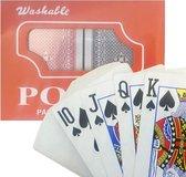 Luxe Speelkaarten - Plastic Coating - Poker Kaarten - kaartspel - Spelkaarten - Spel Kaart - 2 x 56 - Gezelschapsspel - Spelen - Playing Cards - 2 STUKS