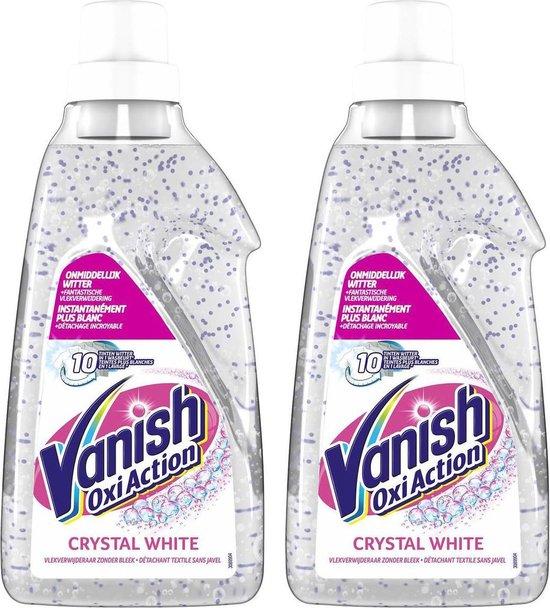 Vanish - Oxi Action Crystal White Gel - Voor Witte was - 2 x 750 ML - Voordeelverpakking
