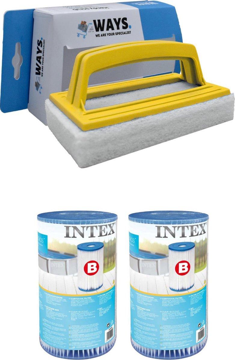 Intex - Filter type B - 2 stuks - Geschikt voor filterpomp 28634GS & WAYS scrubborstel