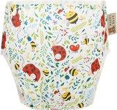 HappyBear - Zwemluier Lieveheersbeestjes | 0-3 jaar - Wasbaar - Onesize