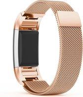 Eyzo Fitbit Charge 2 Bandje - Roestvrijstaal - Small - Rosé goud