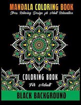 Mandala Coloring Book Black Background
