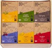 Thee Assortiment Verschillende Smaakjes 60 theezakjes 2 gram Alex Meijer Fair Trade