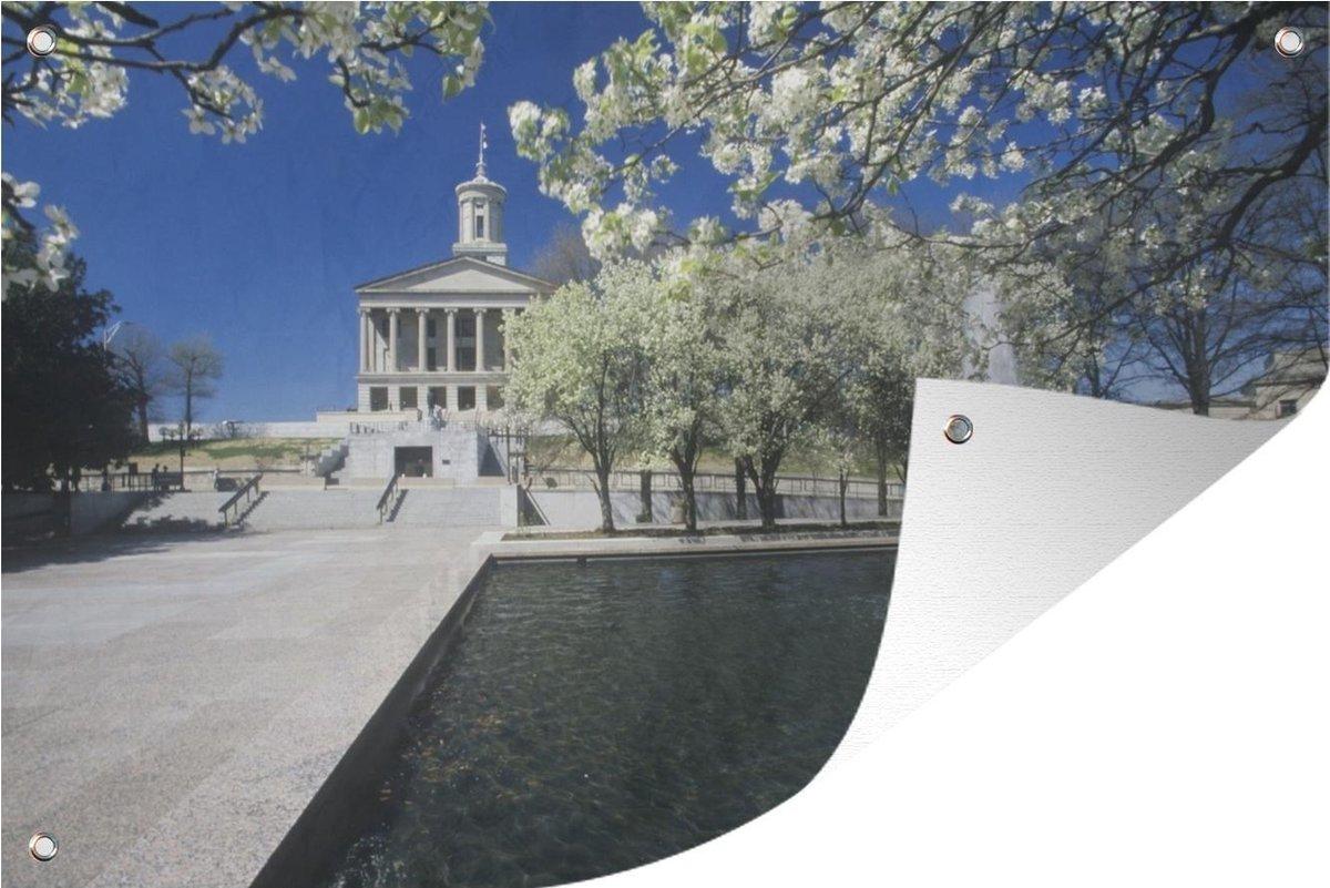 Muurdecoratie Architectuur - Nashville - Fontein - 180x120 cm - Tuinposter