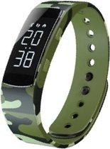 West Watch - Model Jungle - Activity Tracker/ Stappenteller Kinderen - Smartband - Sporthorloge Kids - Camouflage groen