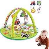 BabyJem - Baby Speelkleed - Speelkleed baby met boog - Speelmat Baby - ⌀ 59cm-48x83cm