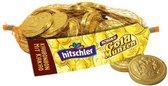 Hitschies Netje Gouden Munten Choco 130gr - 50 Stuks