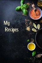 My Recipes-My Favorite Recipes Blank Cookbook- Personalised Cookbook-Blank Cookbooks for Family Recipes-Blank Receipe Book