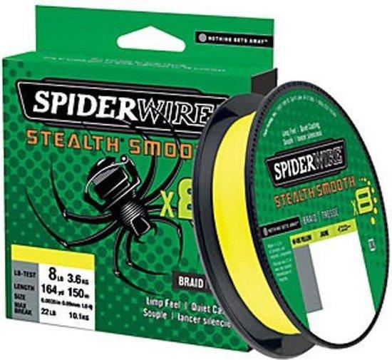 Spiderwire Stealth Smooth 8 - Geel - 6kg - 0.07mm - 300m - Gevlochten lijn