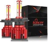 H4 led lamp auto – Autolampen h4 – Koplamp h4 autolampen – Helder wit – 100W - 6000K - (2-stuks)