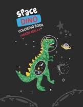Space Dino Coloring Book for Kids Ages 4-8