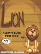 Lion Activity Book For Kids Ages 4-8